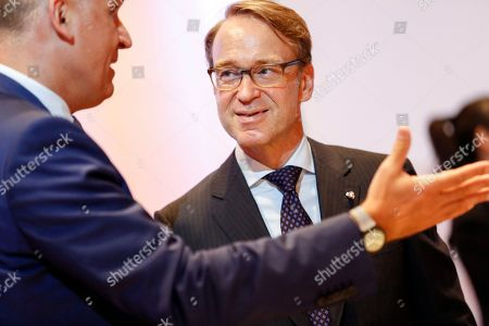 President of the Central Bank of Germany Jens Weidmann (R) talks to Marek Mora, Board Member of the Czech National Bank (L) during an Informal Meeting of Economic and Financial Affairs Ministers (ECOFIN) at the Austria Center Vienna (ACV) in Vienna, Austria, 07 September 2018. Austria hosts a two-day Informal Meeting of Economic and Financial Affairs Ministers (ECOFIN) in Vienna on 07 and 08 September. Austria took over its third Presidency of the European Council from July 2018 until December 2018.