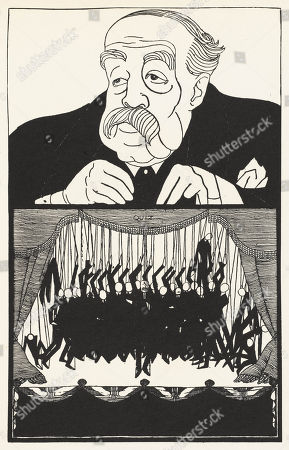 George Younger 1st Viscount Younger (1851-1929) Politician . Powys Evans in Saturday Review / 88 Cartoons No 9