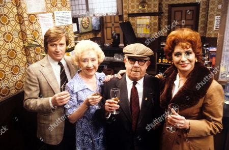 'Coronation Street'  TV - 1980 - Cast.The Original Four Ken Barlow [WILLIAM ROACHE], Annie Walker [DORIS SPEED], Albert Tatlock [JACK HOWARTH], Elsie Tanner [PAT PHOENIX]