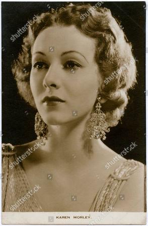 Karen Morley (1909 - 2003) (mildred Linton) American Film Actress . Photograph On A Postcard
