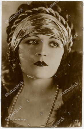 Pola Negri (appolonia Chalupek) (1897 - 1987) Polish-born Actress Who Went to Hollywood in the 1920s and Was Successful in Silent Films. Unattributed Photograph On A Postcard