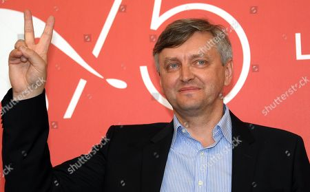 Ukranian filmmaker Sergei Loznitsa poses during a photocall for 'Process' during the 75th annual Venice International Film Festival, in Venice, Italy, 07 September 2018. The movie is presented in out competition at the festival running from 29 August to 08 September 2018.