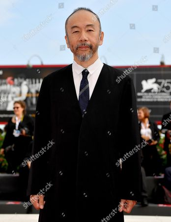 Japanese filmmaker Shinya Tsukamoto arrives for the premiere of 'Zan' (Killing) at the 75th annual Venice International Film Festival, in Venice, Italy, 07 September 2018. The movie is presented in the official competition 'Venezia 75' at the festival running from 29 August to 08 September.