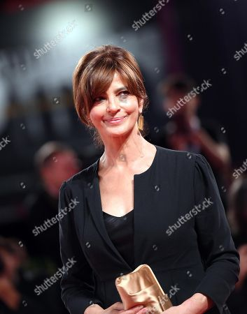 Italian actress Laura Morante arrives for the premiere of 'Una storia senza nome' during the 75th annual Venice International Film Festival, in Venice, Italy, 07 September 2018. The movie is presented out of competition at the festival running from 29 August to 08 September 2018.