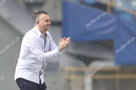 Taiwan head coach Gary White reacts during the International Friendly soccer match between Malaysia and Taiwan, in Taipei, Taiwan, 07 September 2018.