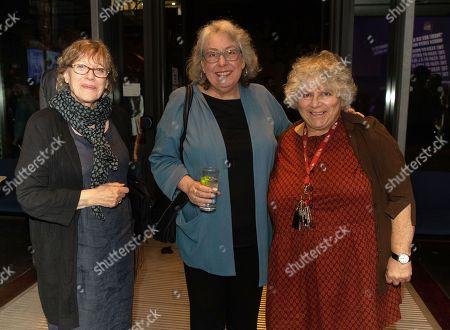Cast member Jayne Houdyshell (centre), Miriam Margolis and friend