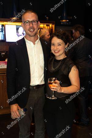 Stock Image of Playright Stephen Karam and Sarah Steele