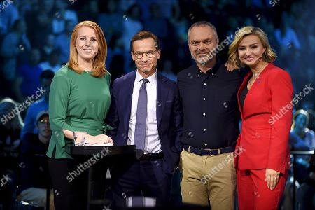 Party leaders (L to R) Annie Loof, Ulf Kristersson, Jan Bjorklund and Ebba Busch Thor