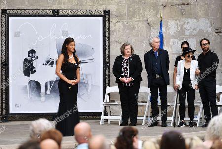 Megan Brennan, Bob Gruen, Yoko Ono and Sean Lennon
