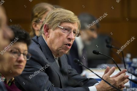 Former US Solicitor General Theodore Olson (C) testifies during the fourth day of the Senate Judiciary Committee's confirmation hearing on circuit judge Brett Kavanaugh's nomination to be an Associate Justice of the Supreme Court of the United States, on Capitol Hill in Washington, DC, USA, 07 September 2018. President Trump nominated Kavanaugh to fill the seat of retiring justice Anthony Kennedy. If confirmed, Kavanaugh would give conservatives a five-member majority in the high court.