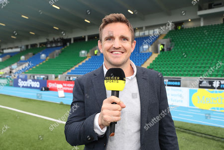 Stock Picture of Glasgow Warriors vs Munster. Premier Sports' Rory Lawson