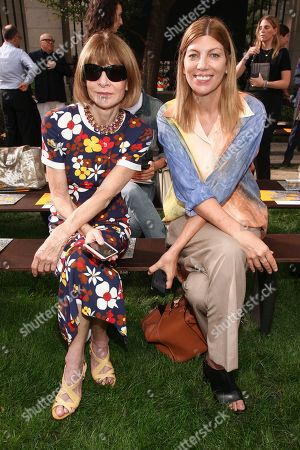 Anna Wintour, Virginia Smith. Anna Wintour, left, and Virginia Smith attend the NYFW Spring/Summer 2019 Tory Burch fashion show at the Cooper Hewitt Smithsonian Design Museum, in New York
