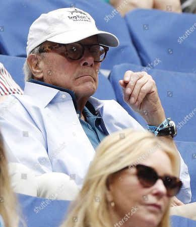 US television personality Tom Brokaw watches as Rafal Nadal of Spain plays Juan Martin del Potro of Argentina during their semi-final match on the twelfth day of the US Open Tennis Championships the USTA National Tennis Center in Flushing Meadows, New York, USA, 07 September 2018. The US Open runs from 27 August through 09 September.
