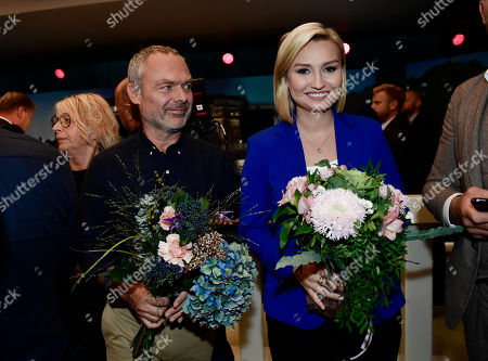 Jan Bjorklund of the Liberal Party and Ebba Busch Thor of the Christian Democratic Party after a party leader debate in SVT, Swedish national public TV broadcaster, in Stockholm, Sweden, 07 September 2018. Sweden's general elections will be held on 09 September.