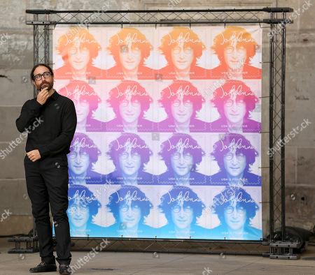 Sean Lennon, son of John Lennon, appears at a ceremony dedicating the new John Lennon Commemorative Forever Stamp, in New York