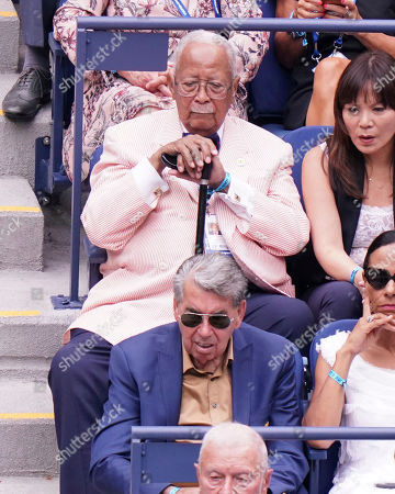 Former New York Mayor David Dinkins attends the semifinals of the U.S. Open tennis tournament at the USTA Billie Jean King National Tennis Center, in New York