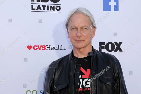 Stock Image of Mark Harmon arrives at the 2018 Stand Up To Cancer event at the Barker Hangar at the Santa Monica airport, in Santa Monica, Calif