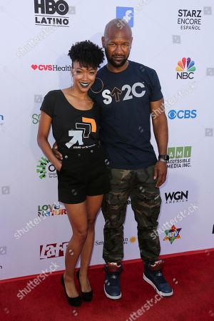 Sonequa Martin-Green, Kenric Green. Sonequa Martin-Green, left, and Kenric Green arrive at the 2018 Stand Up To Cancer event at the Barker Hangar at the Santa Monica airport, in Santa Monica, Calif