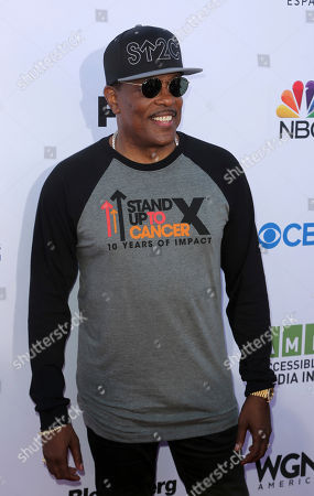 Charlie Wilson arrives at the 2018 Stand Up To Cancer event at the Barker Hangar at the Santa Monica airport, in Santa Monica, Calif