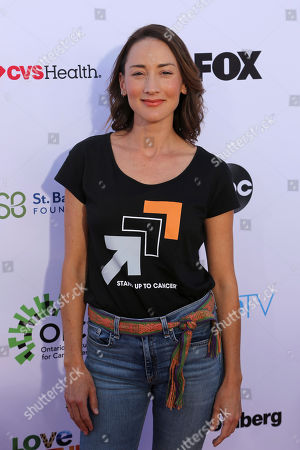 Bree Turner arrives at the 2018 Stand Up To Cancer event at the Barker Hangar at the Santa Monica airport, in Santa Monica, Calif