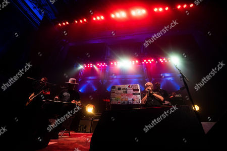 Charlie Musselwhite, Ben Harper. Ben Harper, left, and Charlie Musselwhite perform on stage at TheTabernacle, in Atlanta