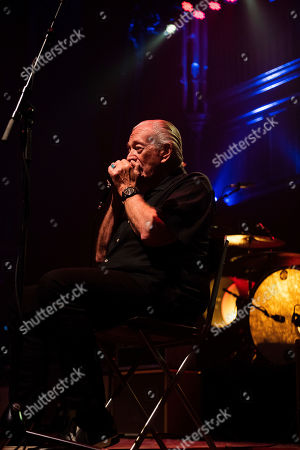 Charlie Musselwhite performs on stage at TheTabernacle, in Atlanta