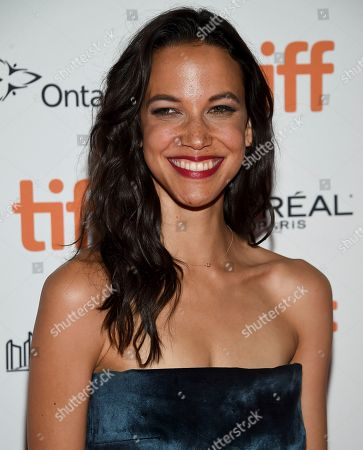 """Caroline Ford attends the premiere for """"Nekrotronic"""" on day 2 of the Toronto International Film Festival, at the Ryerson Theatre, in Toronto"""
