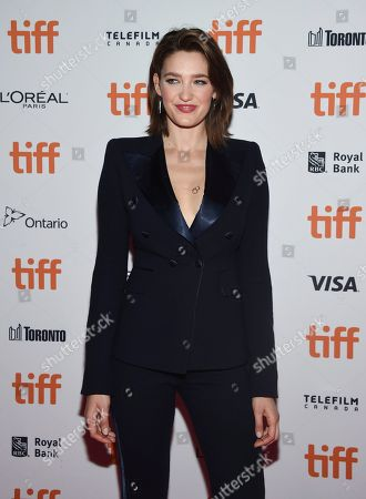 """Tess Haubrich attends the premiere for """"Nekrotronic"""" on day 2 of the Toronto International Film Festival, at the Ryerson Theatre, in Toronto"""