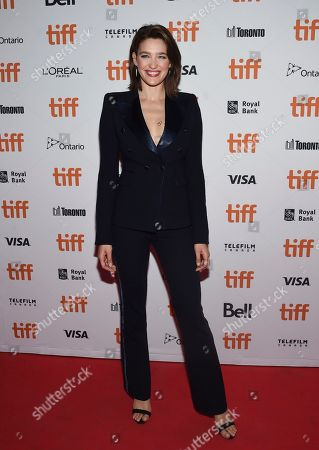 """Stock Picture of Tess Haubrich attends the premiere for """"Nekrotronic"""" on day 2 of the Toronto International Film Festival, at the Ryerson Theatre, in Toronto"""