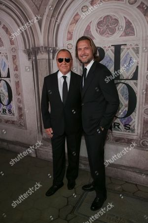 Michael Kors, Lance LePere. Michael Kors, left, and Lance LePere attend the Ralph Lauren 50th Anniversary Event held at Bethesda Terrace in Central Park during New York Fashion Week, in New York