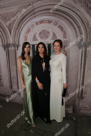 Ruby Aldridge, Lily Aldridge, Saffron Aldridge. Ruby Aldridge,from left, Lily Aldridge and Saffron Aldridge attend the Ralph Lauren 50th Anniversary Event held at Bethesda Terrace in Central Park during New York Fashion Week, in New York