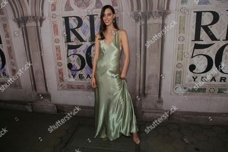 Ruby Aldridge attends the Ralph Lauren 50th Anniversary Event held at Bethesda Terrace in Central Park during New York Fashion Week, in New York