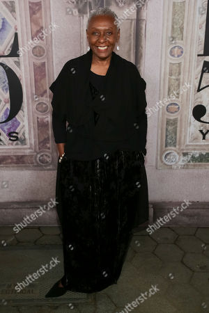 Bethann Hardison attends the Ralph Lauren 50th Anniversary Event held at Bethesda Terrace in Central Park during New York Fashion Week, in New York