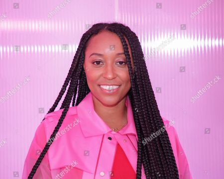 Shiona Turini attends the Kate Spade Runway Show at the New York Public Library during New York Fashion Week, in New York