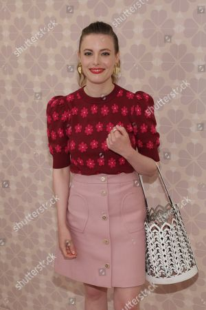 Gillian Jacobs attends the Kate Spade Runway Show at the New York Public Library during New York Fashion Week, in New York