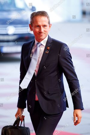 Danish Finance Minister Kristian Jensen arrives for an Informal Meeting of Economic and Financial Affairs Ministers (ECOFIN) at the Austria Center Vienna (ACV) in Vienna, Austria, 08 September 2018. Austria hosts a two-day Informal Meeting of Economic and Financial Affairs Ministers (ECOFIN) in Vienna on 07 and 08 September. Austria took over its third Presidency of the European Council from July 2018 until December 2018.