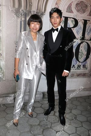 Angelica Cheung, editor in chief of Vogue China and Jing Boran