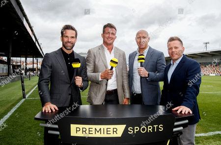 Stock Photo of Dragons vs Southern Kings. Premier Sports' Gethin Jones, Ed Jackson, Tom Shanklin and Rhys Ap Williams