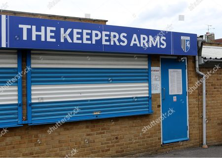 The Keepers Arms kiosk behind the Brian Moore Stand during Gillingham vs AFC Wimbledon, Sky Bet EFL League 1 Football at The Medway Priestfield Stadium on 8th September 2018