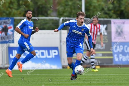 Elliott Hewitt (4) of Notts County on the attack during the EFL Sky Bet League 2 match between Exeter City and Notts County at St James' Park, Exeter