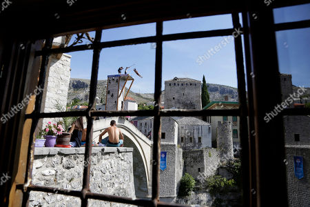 AuBergewohnlich Bosnia Red Bull Cliff Diving World Series 2018. Diver Nathan Jimerson, Of  USA, ...