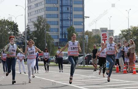 Women Take Part In The High Heel Race In Minsk, Belarus, 08 September 2018  ...