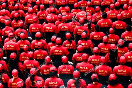 Delegates of the Popular Movement for the Liberation of Angola (MPLA) attend the 6th MPLA Extraordinary Congress held in the Belas Complex, south of Luanda, Angola, 08 September 2018. Former President of Angola, Jose Eduardo dos Santos, ended his career in active politics on the same day, handing over power to the Popular Movement for the Liberation of Angola (MPLA) to current Angolan head of state, Joao Lourenco.