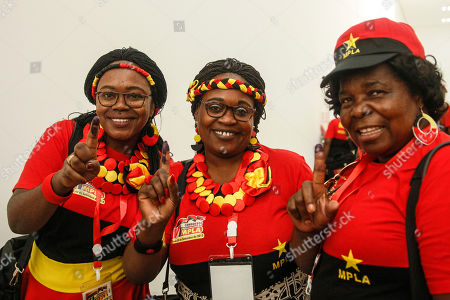 Delegates of the Popular Movement for the Liberation of Angola (MPLA) show their painted finger after pulling their vote during the 6th MPLA Extraordinary Congress held in the Belas Complex, south of Luanda, Angola, 08 September 2018. Former President of Angola, Jose Eduardo dos Santos, ended his career in active politics on the same day, handing over power to the Popular Movement for the Liberation of Angola (MPLA) to current Angolan head of state, Joao Lourenco.