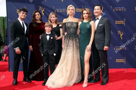 Emery Kelly, Tiffani Thiessen, Finn Carr, Jolie Jenkins, Isabel May, Paris Berelc and Eddie Shin