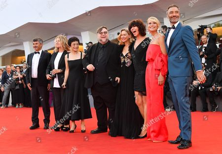 Official competition 'Venezia 75' jury members (L-R) Paolo Genovese, Nicole Garcia, Sylvia Chang, Jury President Guillermo del Toro, and jury members Naomi Watts, Malgorzata Szumowska, Trine Dyrholm and Taika Waititi arrive for the awarding ceremony of the 75th annual Venice International Film Festival, in Venice, Italy, 08 September 2018. The festival runs from 29 August to 08 September.