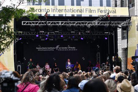 Editorial image of 'Share Her Journey' rally, Toronto International Film Festival, Canada - 08 Sep 2018