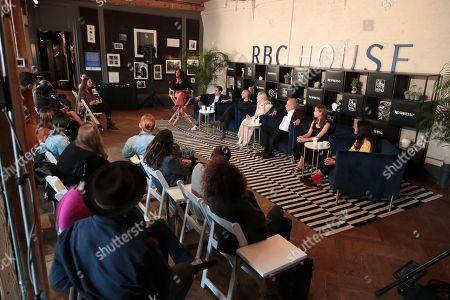 Stock Photo of Max Minghella, Writer/Director, Fred Berger, Producer, Elle Fanning, Zlatko Buric, Clara Rugaard-Larsen, Autumn Durald, Cinematographer