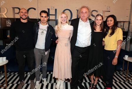 Stock Image of Fred Berger, Producer, Max Minghella, Writer/Director, Elle Fanning, Zlatko Buric, Clara Rugaard-Larsen, Autumn Durald, Cinematographer