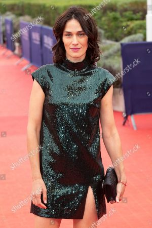 French actress Clotilde Hesme arrives on the red carpet prior to the premiere of 'Operation Finale' during the 44th Deauville American Film Festival, in Deauville, France, 08 September 2018. The festival runs from 31 August to 11 September.